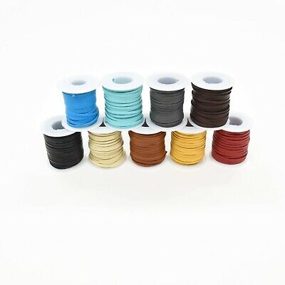 """Real deerskin leather lacing for jewelry 1/8"""" x 50' lace cord for necklace"""
