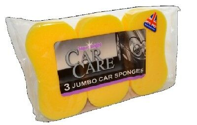 Multi-pack 3 6 or 9 JUMBO CAR WASH Washing SPONGE Large Made in England