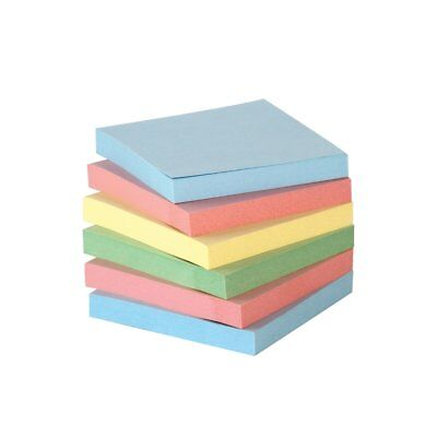 Self-Sitck Note 3x3 in, Assorted Pastel Colors, 100 Sheets/Pad, Pack of 12