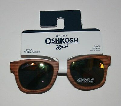 New OshKosh B'gosh Sunglasses Wood Grain Wayfarer Glasses  0-24 Months  NWT Boys