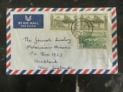 1964 Santo New Hebrides Cover To Melanesian Mission Auckland New Zealand B