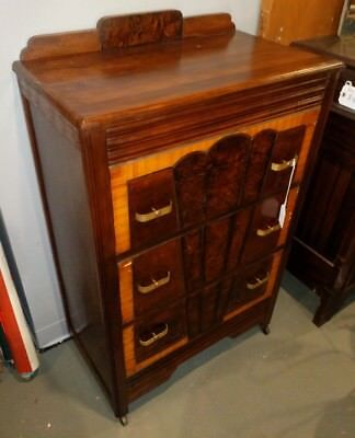 Vintage 1930s Art Deco Chest of Drawers 3 Drawers 16x28x42