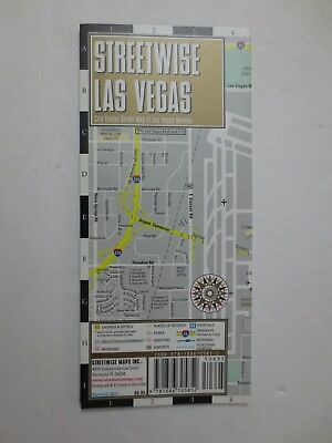 New 2011Streetwise Las Vegas Nevada Map - Laminated City Center Street Map