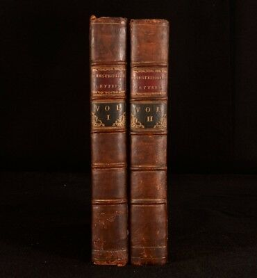 1774 2vol Lord Chesterfield's Letters First Edition Second State Stanhope
