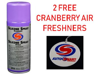 2 x 400ml AUTOSMART PROFESSIONAL SILICONE SPRAY DRESSING, STARBURST FRAGRANCE