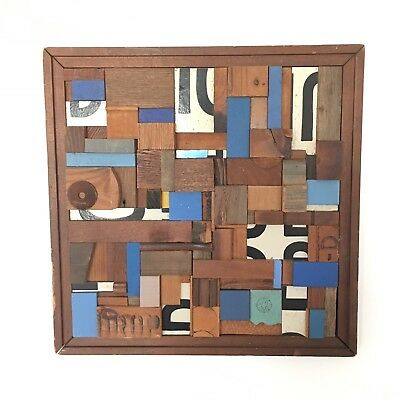 Abstract Found Object Assemblage by Listed Mid Century Artist Arthur Guagliumi A