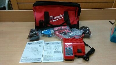 Milwaukee 2636-20 M18 Cordless 14 Gauge Double Cut Shear/2 Batteries/Charger/Bag