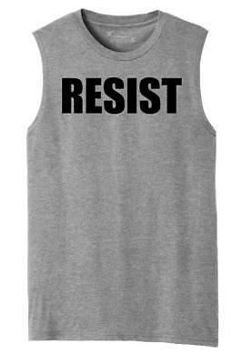 Mens Resist Tee Anti Donald Trump Political Protest Trump Rally Tee Muscle Tank