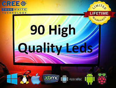 90 RGB CREE UltraBright LEDs LightPack strip TV backlight usb Ambilight Boblight