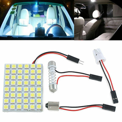 Car Interior White 48 SMD 5050 LED Light Lamp Panel T10 Free Canada Shipping