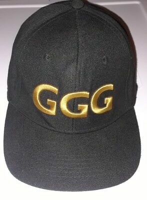 GGG Boxer Embroidered BlackGold Hat Cap .. Adjustable...Chivas Fight Club,Unused