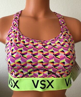 79ae10e76dd0a New Victoria s Secret XS VSX Multi color The Player Racerback Sports Bra  2938