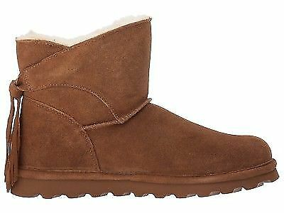 BEARPAW Women/'s Emma Tall Winter Boots Knee-High Pull-On Suede Hickory Brw US8