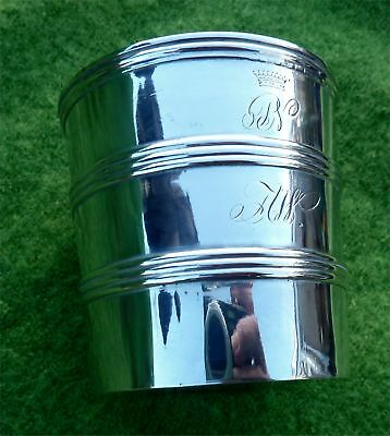 NICE COLLAPSIBLE ANTIQUE CONTINENTAL SILVER BEAKER - GREAT QUALITY - 3.38 Troy