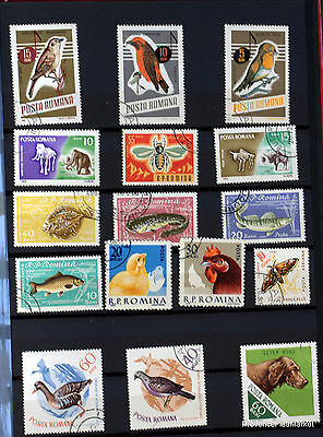 Romania Set Of Stamps Cancelled 88M119