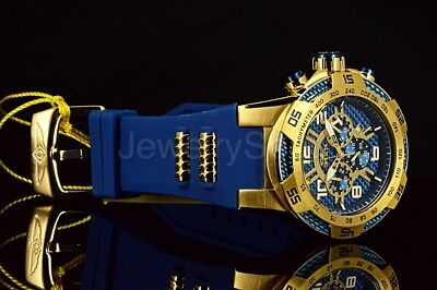 24232 Invicta 50mm Speedway Viper II Blue Dial GP Case Chronograph Blue Strap Wa