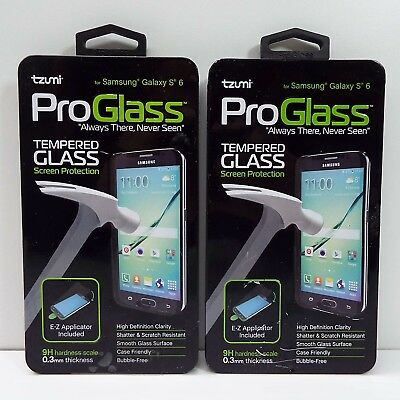 Oem 2X Tzumi Proglass Tempered Glass Screen Protection Samsung Galaxy S6 (D300)