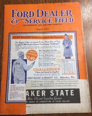 Ford Dealer & Service Field Magazine March 1933 Ford V8
