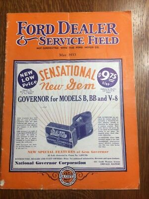 Ford Dealer & Service Field Magazine May 1933 Ford V8