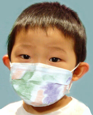 Child Disposable Multi-Color Earloop Protective Face Mask for Kids 50/Box New
