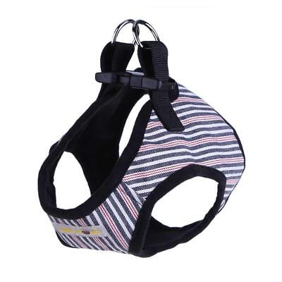 Stripes Pet Puppy Dog Harness Vest Traction Rope Chest Leash Safty Walking Lead