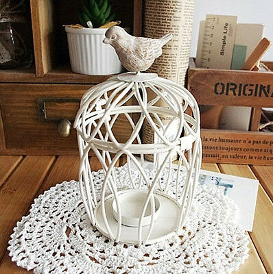 Vintage Wedding Decor Iron Candlestick Bird Cage Candle Holder Table Decorations