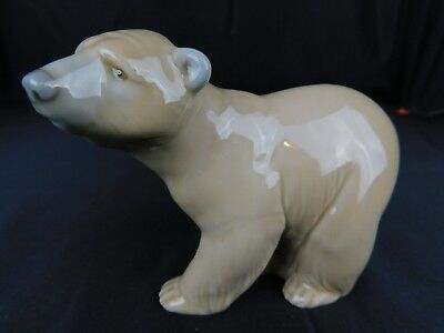 Signed Lladro Porcelain Bear Figurine Made in Spain