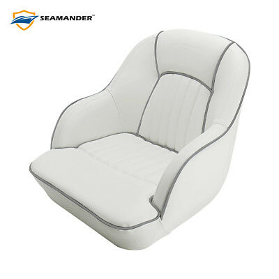 Seamander Pontoon Furniture Bucket Seat Captain Seat Gray Blue Red