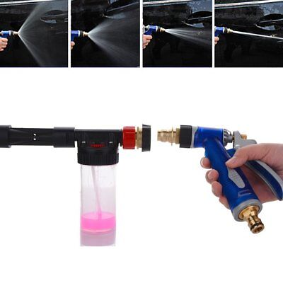 High Pressure Snow Foam Water Car Wash Spray Gun Cleaning Hose Pipe Lance NEW UI