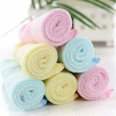 Practical Bamboo Baby Towel 25x25cm Face Towels Baby Care Wash Cloth Kids New!*