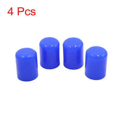 "4Pcs 19mm 3/4"" Silicone Blanking Cap Intake Vacuum Hose Tube End Bung Blue"