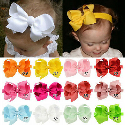 Children Head Wrap Kids Girl Hair Band 6 inches Bow Tie Baby Headband Headwear
