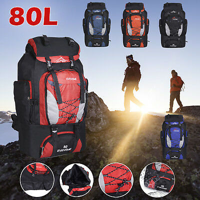 ef835f942db1 80L Large Waterproof Backpack Rucksack Bag Luggage Outdoor Camping Hiking  Travel
