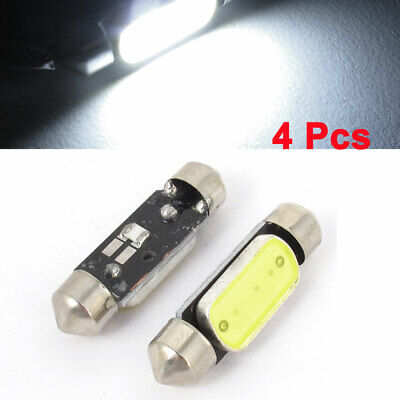 4pcs White 36mm LED Festoon Panel Dome Map Light Bulb Lamp Internal for Car