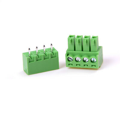 10X 2EDG 4Pin Plug-in Screw Terminal Block Connector 3.81mm Pitch Right Angle DS