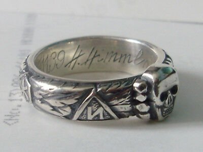 Silver 900 Honor German Ring Repro Size 7-16 Free Engraving Signature/runes/text