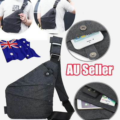 Men's Crossbody Chest Bag Anti-Theft Motorcycle Sling Shoulder Pack Novelty ON