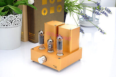 1pc APPJ EL84 12AX7B MINI Tube Integrated Audio Amp (original miniwatt N3) Gold