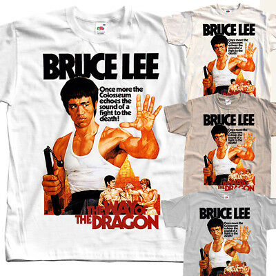 The way of dragon Bruce Lee T-SHIRT (WHITE,NATURAL,KHAKI) all sizes S to 5XL