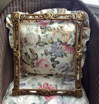 FANTASTIC!! Antique Aesthetic Picture Frame  LARGE 16inX19in. wood gesso gilt