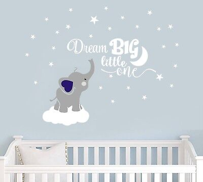 wall stickers custom colour elephant dream big baby vinyl decal decor Nursery
