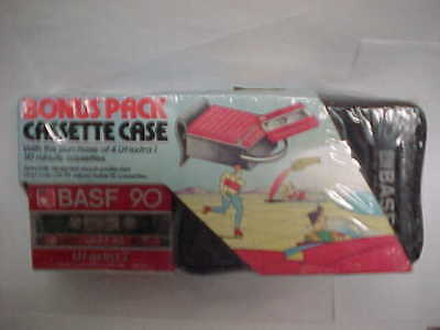 Vintage 1981 BASF 90 LH-EI Bonus Pack Cassette Tape Display Packaging New Sealed