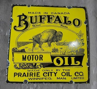 """Porcelain Buffalo Motor Oil 24"""" X 24"""" INCHES Pre-Owned $600.0"""