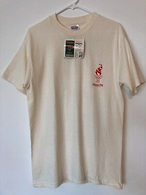 Size Medium 1996 Olympics T-Shirt Men's With Tags Discus Thrower NWT Cotton
