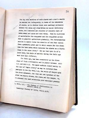 Manuscript for Social Services in India wit P.H. Cabinetmaker 1950 Book 04220