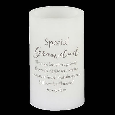 """""""Thoughts of You"""" Remembrance / Memorial Battery Operated LED Candle - Grandad"""