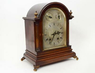 1908 Mahogany Quarter Hour Chiming Bracket Clock by Winterhalder & Hofmeier