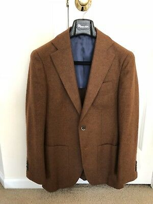 Suitsupply Hudson Wool Cashmere Sportcoat, Size 36, Rust