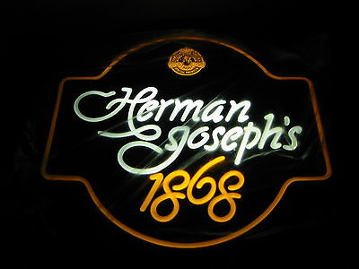 Vintage Herman Joseph's 1868 Lighted Wall Sign  Nos Faux Neon