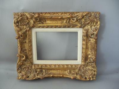 """Shabby Vintage Chic Gold Gilt Wood Small Picture Frame 5"""" X 7"""""""